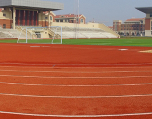 Shandong yantai no.2 middle school (high-tech zone campus) sports ground.
