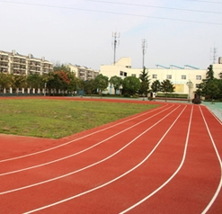 Lu dong university silicon PU stadium engineering.